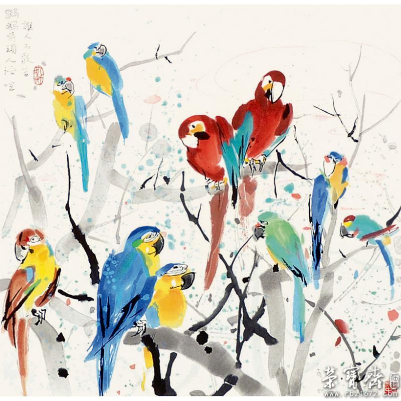 吴冠中 鹦鹉图片
