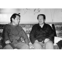 劉開渠先生與吳傳麟合影