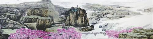 红军长征八十周年精品力作——80米国画长卷《万里长征新画卷》在江西
