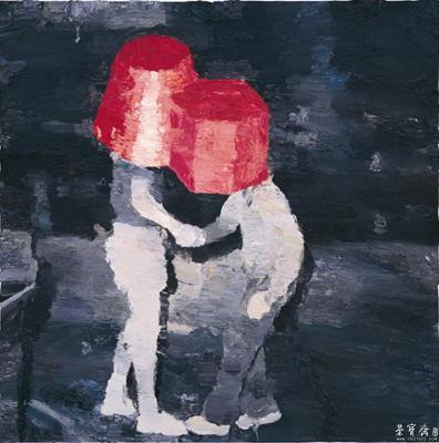 仇晓飞 《重归于好》 2010 布面油画 200cm x 200cm