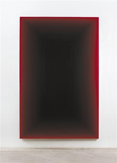 2012年的作品《无题121101》,布面丙烯,280×180cm