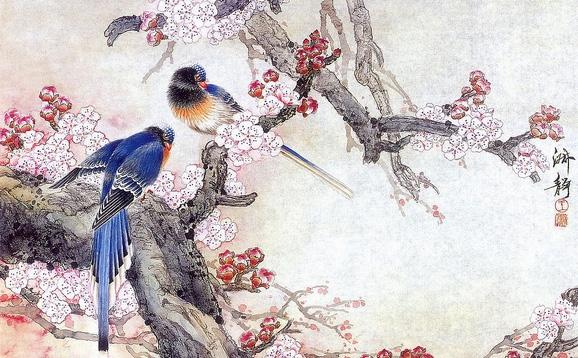 文房书画艺术品拍卖平台-中国传统工笔花鸟画的形式图片