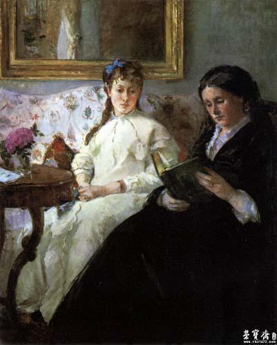 在法国成名的美籍女画家玛丽卡萨特,其创作题材与莫里索相近