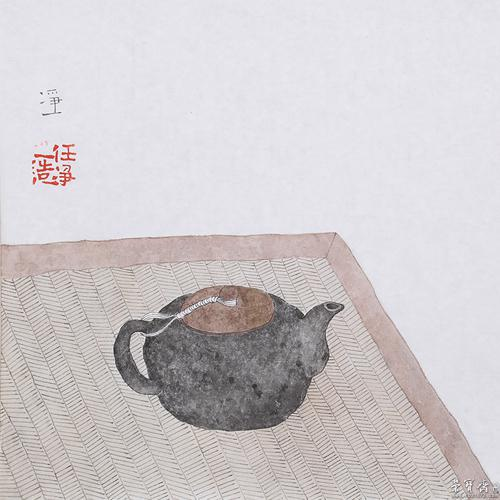 禅意水墨小品《禅茶一味》图片