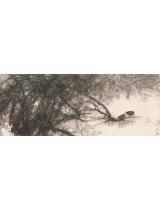 《綠野幽夢》143×365cm 2001年