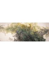 《绿幽烂漫》145×365cm 1999年