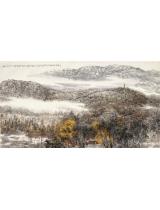 《嵩山金秋圖》180×907cm 1999年