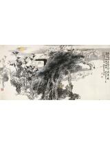 《李白诗意》134×68cm 1982年