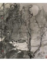 《明月千頃淚朦朧》67×67cm 1987年