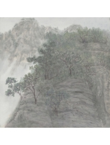 《祖山情人谷》50cmX50cm 国画 2014年