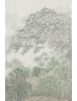 《云雾长寿山》68cmX45cm 国画 2015年