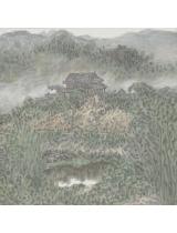 《傣寨春早》50cmX50cm 国画 2014年