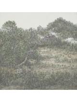 《版纳傣村》50cmX50cm 国画 2014年