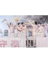 《南沙天浴》180cm×300cm 2012年 国画 建军85周年全军美展评委作品