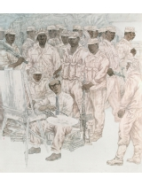 《畫兵》200㎝×180㎝ 1999年 獲第九屆全國美展銅獎