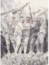 《8.15勝利日》265㎝×196㎝ 宣紙 中國畫顏料 2005年8月