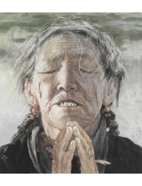 《母親·母親》230cmX200cm 國畫 2012年