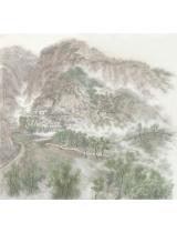 《意彩陜北》180cmX180cm 國畫 2015年