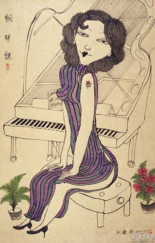 钢琴课 画