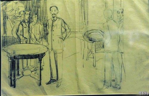 蔡公时被难图》素描稿-文房书画艺术品拍卖平台 徐悲鸿的 写实主义