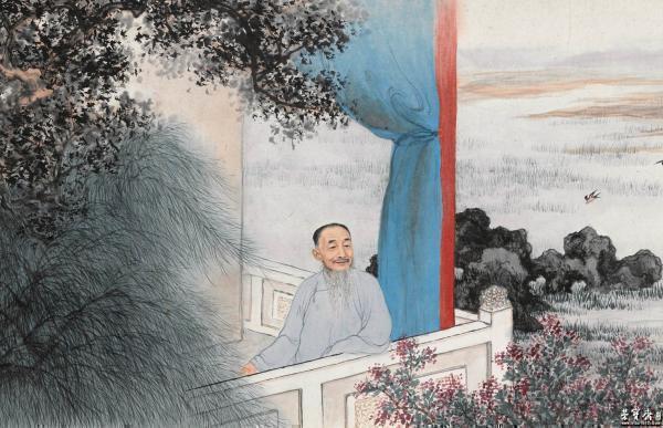 《刘定之像》(局部)上海博物馆藏
