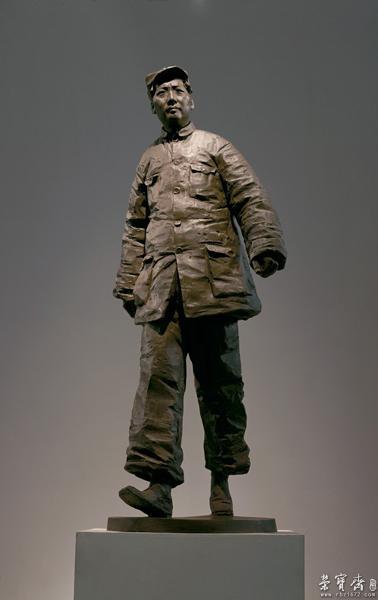 (王琦《当代中国美术》)雕塑将中国传统的雕塑手法与图片