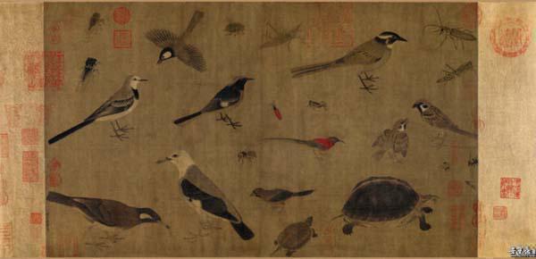 黄筌《写生珍禽图》