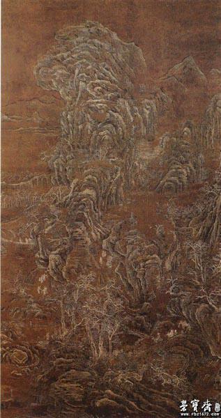 荆浩 《雪景山水图》