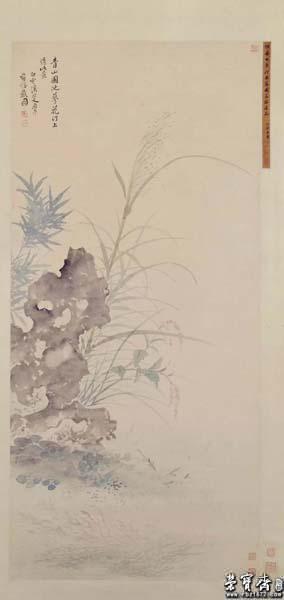 恽寿平《蓼汀鱼藻图》