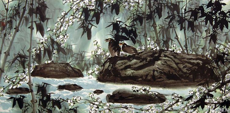 《清韵》2006年作 纳编人民美术出版社《中国当代名家画集·吴传麟》