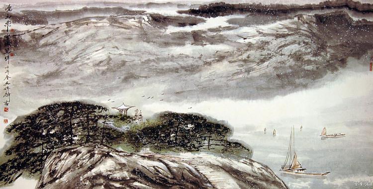 《漫天飞雪眩双眸》2002年作 纳编人民美术出版社《中国当代名家画集·吴传麟》
