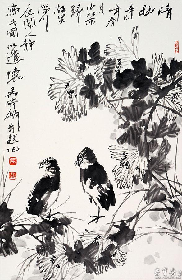 《清秋》2001年作 纳编人民美术出版社《中国当代名家画集·吴传麟》